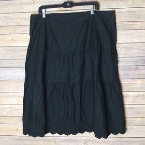 Merona Tier Skirt W/ Embroidered Hem